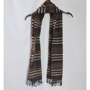 Modena Made in Italy Brown Striped Scarf